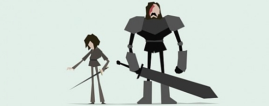 game of thrones characters illustrated in minimalist vector art